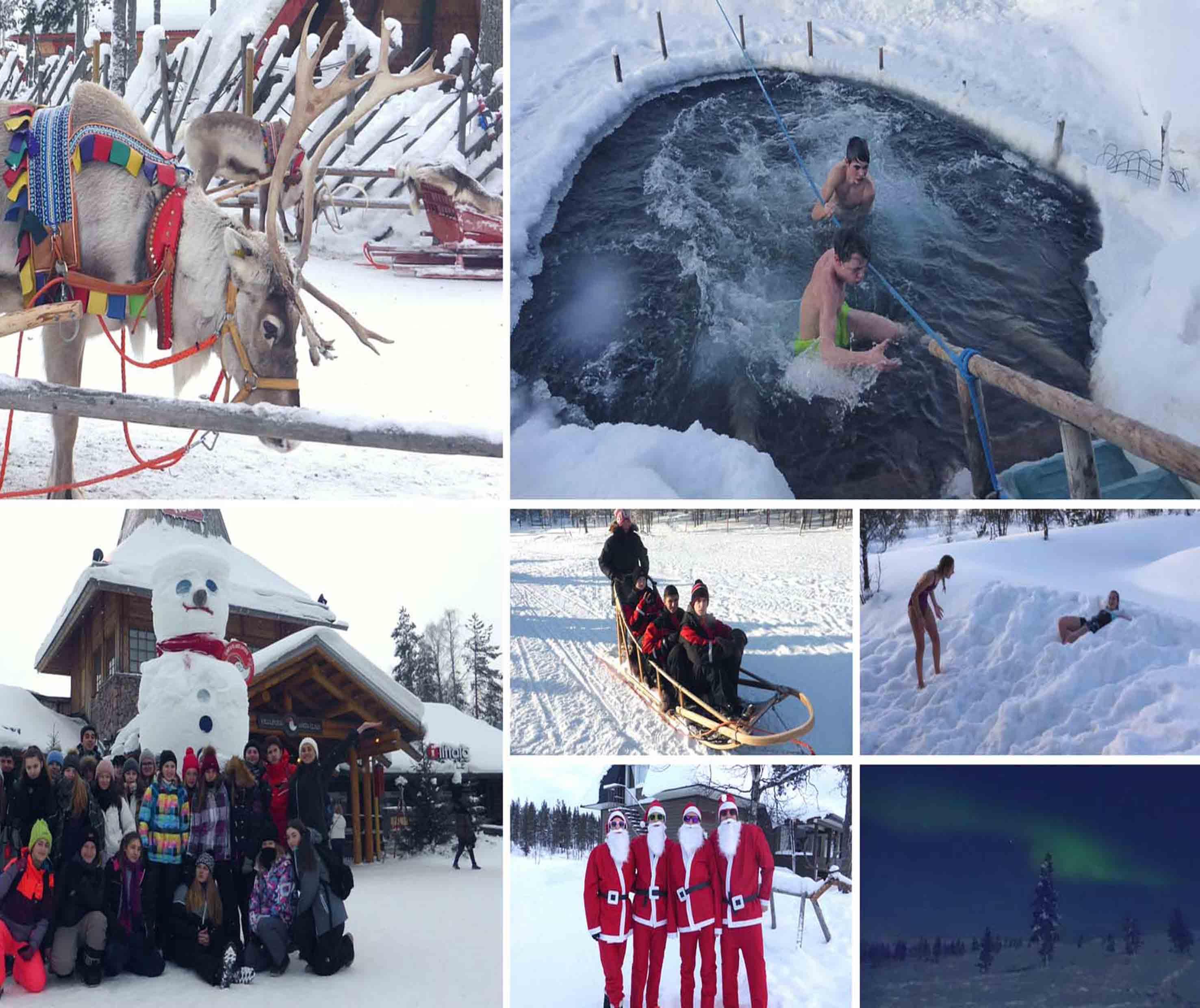 Colonie de vacances d'hiver en Laponie