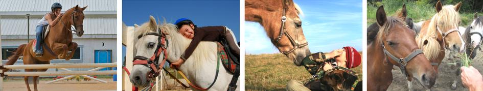 Colonie de vacances spécialisée équitation pour enfants vacances d'hiver