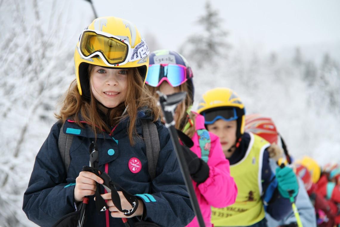 Colonie de vacances pour enfants hiver